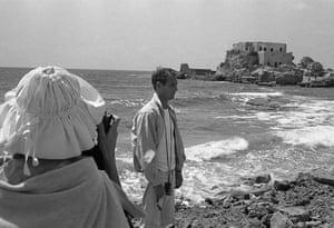 Paul Newman: Paul Newman at the beach
