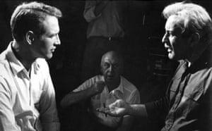 Paul Newman: Paul Newman on a film set