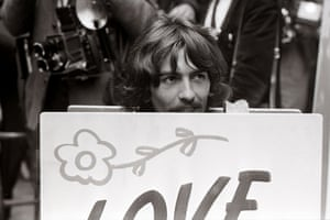Jane Bown and The Beatles: George Harrison of The Beatles at an All You Need Is Love press conference