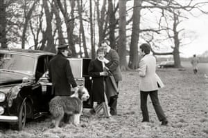 Jane Bown and The Beatles: John Lennon and Paul McCartney with their limo and chauffeur in Knole Park