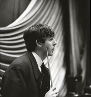 Jane Bown and The Beatles: Paul McCartney of The Beatles, backstage at East Ham 1963