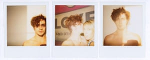 Observer Review Polaroids: Polaroids by Sam Taylor-Wood of her boyfriend Aaron Johnson and herself
