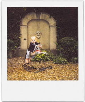 Observer Review Polaroids: Polaroid by Lord Snowdon of his grandson on a rocking horse