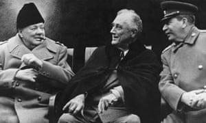 Second world war: Churchill, Roosevelt and Stalin at Yalta