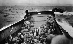 second world war american troops heading for the d day landings in normandy
