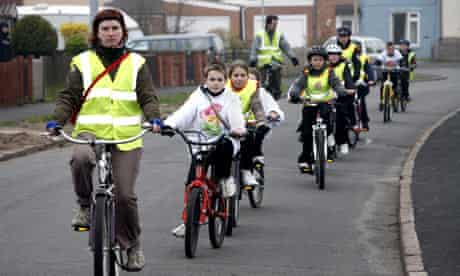 Bike blog : the Bikeability test for children at Queens Mead Primary School, Braunstone