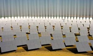100 clean tech : solar energy plant, Sanlucar la Mayor, Spain