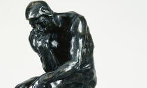 The Thinker by Auguste Rodin.