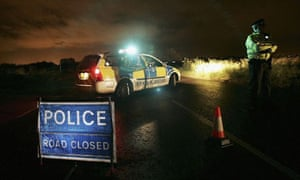 Police stage a roadblock