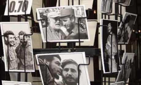 Fidel Castro postcards in Cuba