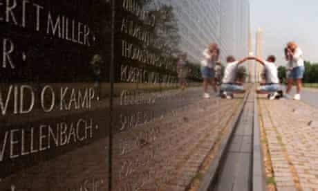Vietnam memorial in Washington