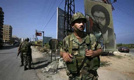 Troops on patrol in Lebanon