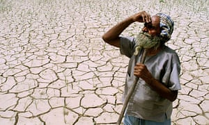 Indian farmer drought