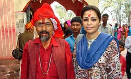 Pramada Shah with the high priest of Gadhimai