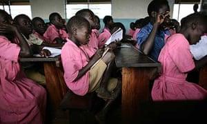 Children at Katine primary school in Uganda