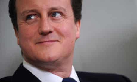 David Cameron in London on 11 January 2010.