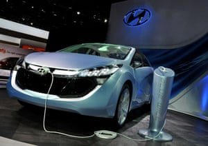 Detroit motor show: Hyundai Motor Co. shows off the Blue-Will gasoline-electric hybrid