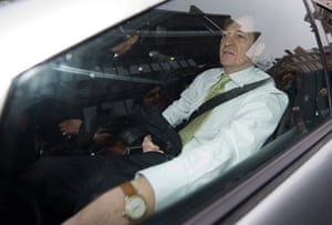 campbell at Iraq inquiry: Alistair Campbell arrives at Chilcot inquiry