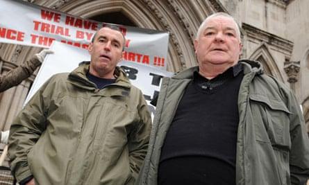 Heathrow robbery trial accused Glenn Cameron and John Twomey