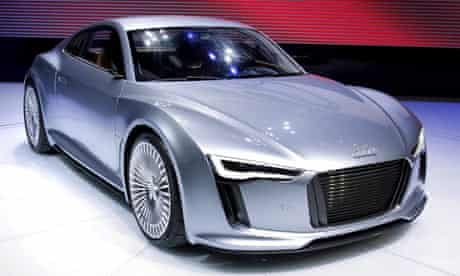 The Audi e-tron makes its debut at the North American International Auto Show in Detroit.