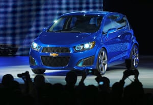 Green cars in Detroit: Chevrolet introduce the Aveo RS show car
