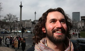 Actor James Burke-Dunsmore who will play Jesus in a Passion play in Trafalgar Square on Good Friday
