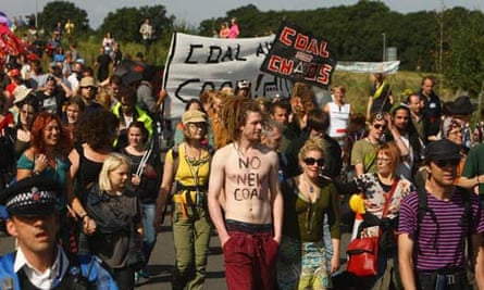 Activists protest against the development of Kingsnorth power station