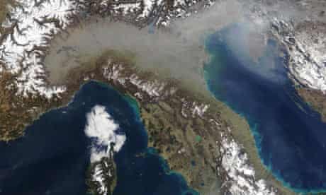 NASA image of the Adriatic Sea