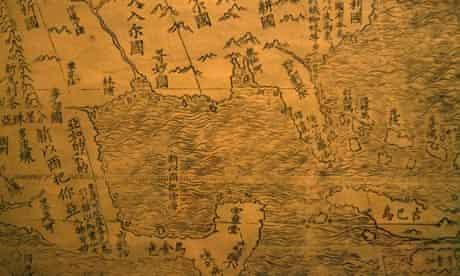 A detail of Matteo Ricci's 1602 map
