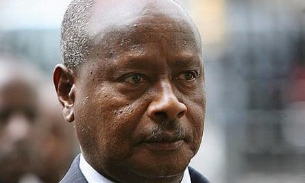 Ugandan President Yoweri Museveni arrives