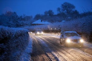 Snow again: Motorists brave wintry driving conditions near Bristol