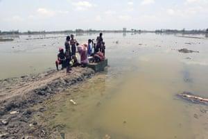 Sinking Sundarbans: Under an unbearable heat due to a delayed monsoon, villagers pump water