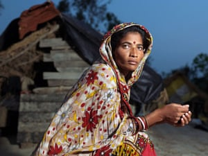 Sinking Sundarbans: Sita Mondal by the bank of the river