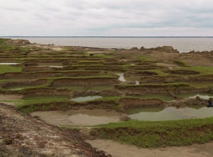 Sinking Sundarbans: Remnants of displaced homes on the edge of Ghoramara Island