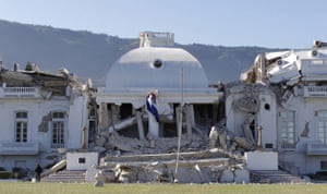 haiti update 3: Damaged presidential palace after an earthquake in Port-au-Prince