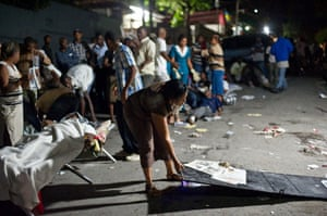 haiti update 3: Major Earthquake Hits Haiti A woman gets her make-shift bed ready