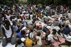 Haiti earthquake: Hundreds of people remain at public squares