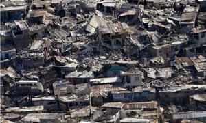 Earthquake destroyed housing in Port-au-prince, Haiti