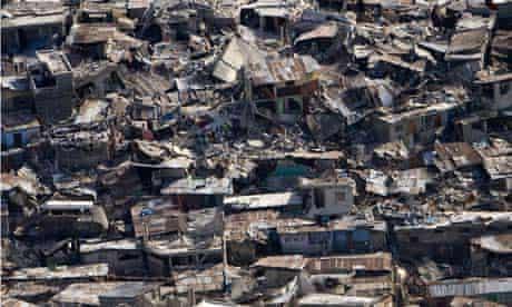 Earthquake destroyed housing in Port-au-prince, Haiti