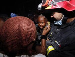 haiti quake: young boy rescued in n Port-au-Prince, Haiti