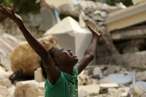 haiti quake: rubble of the collapsed St. Gerard School