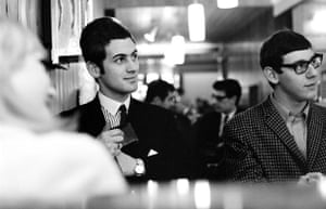 Teenage Hair: Two teenage lads with Mod haircuts sit in a cafe