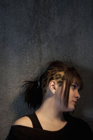 Teenage Hair: A young girl with a pattern shaved into her head