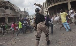 police officer Haiti