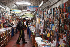Peru books: Book market in Lima, Peru