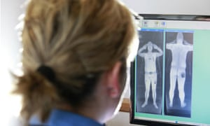 Rapiscan body scanner on trial at Manchester airport.