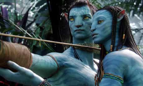 The characters Neytiri and Jake from Avatar