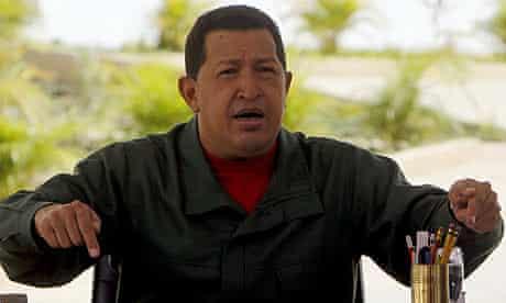 Hugo Chávez speaks during his weekly broadcast, Alo Presidente