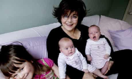 Grandparent Miriam Stoppard and her grandchildren