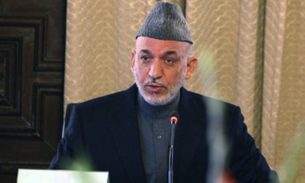 Afghanistan's President Hamid Karzai swears in his new cabinet in Kabul